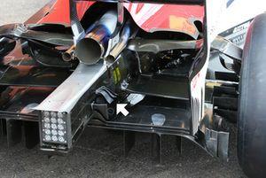 Sauber C37 rear winglets detail