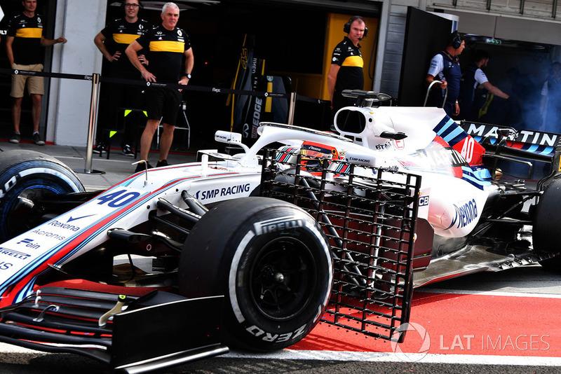 Robert Kubica, Williams FW41, con dei sensori aerodinamici