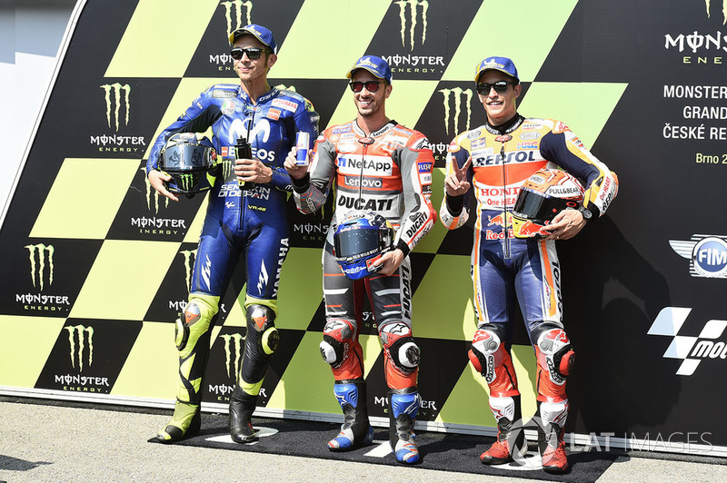 Valentino Rossi, Andrea Dovizioso et Marc Márquez
