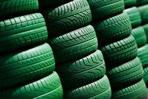 Green tyre wall