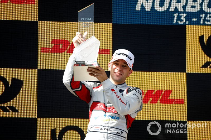 Podium: second place Robin Frijns, Audi Sport Team Abt Sportsline