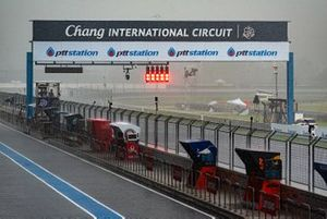 Rain at Buriram Circuit