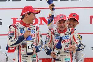 Podium: First place #39 SARD Lexus LC500: Heikki Kovalainen, Yuichi Nakayama