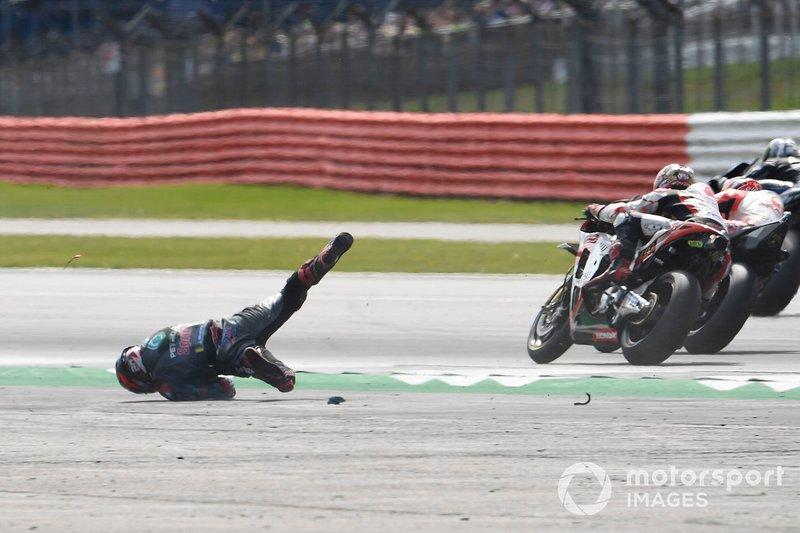 Accident de Fabio Quartararo, Petronas Yamaha SRT
