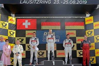 Podium: Le vainqueur René Rast, Audi Sport Team Rosberg, le deuxième Nico Müller, Audi Sport Team Abt Sportsline, le troisième Mike Rockenfeller, Audi Sport Team Phoenix