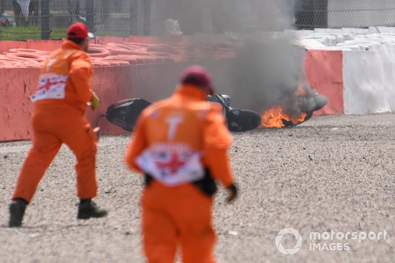 Fabio Quartararo, Petronas Yamaha SRT, Andrea Dovizioso, Ducati Team, fire