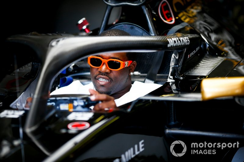 ASAP Ferg, American rapper in the Haas F1 Team VF-19