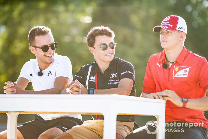 Mick Schumacher, Prema Racing Nyck De Vries, ART Grand Prix and Anthoine Hubert, Arden