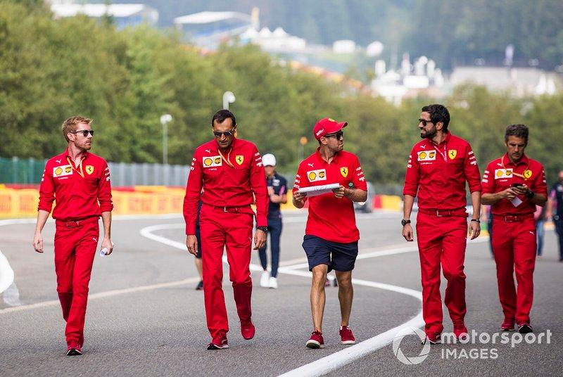 Sebastian Vettel, Ferrari, pist yürüyüşü