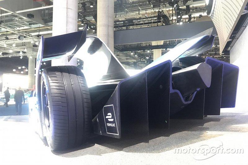 Monoposto della BMW al Salone di Francoforte, dettaglio parte posteriore