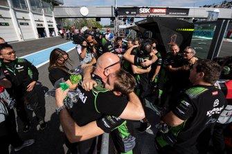 Kawasaki celebrate Jonathan Rea, Kawasaki Racing Team winning his 5th world title