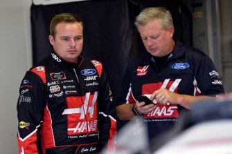 Cole Custer, Stewart-Haas Racing, Ford Mustang Haas Automation and Mike Shiplett