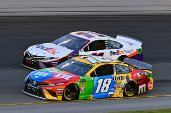 Kyle Busch, Joe Gibbs Racing, Toyota Camry M&M's Toyota Camry and Denny Hamlin, Joe Gibbs Racing, Toyota Camry FedEx Freight