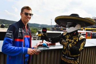 Daniil Kvyat, Toro Rosso, and Mario Achi
