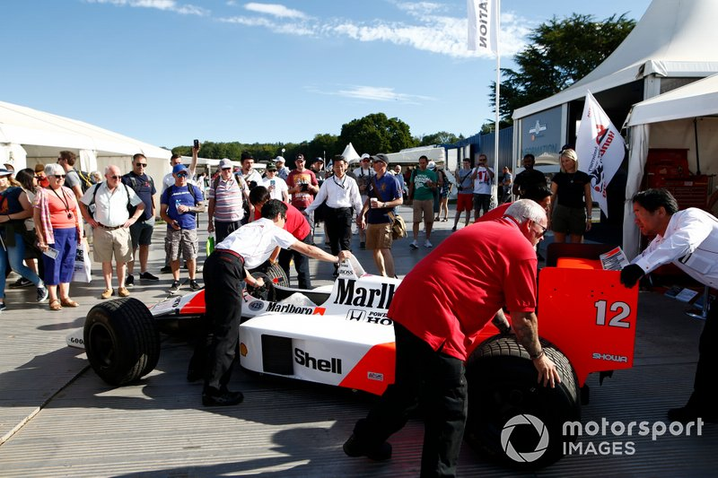 McLaren MP4/4 in the paddock
