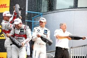 Podium: winnaar Mike Rockenfeller, Audi Sport Team Phoenix, tweede Marco Wittmann, BMW Team RMG, derde Nico Müller, Audi Sport Team Abt Sportsline, Ernst Moser, Audi Sport Team Phoenix