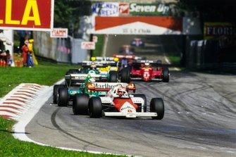 Niki Lauda, McLaren MP4/2, Riccardo Patrese, Alfa Romeo 184T