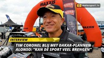 Tim Coronel over Dakar-deelname Fernando Alonso