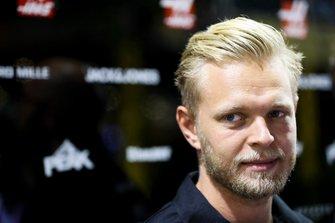 Kevin Magnussen, Haas F1 Team speaks to the media