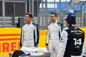 George Russell, Williams, Nicholas Latifi, Williams en Fernando Alonso, Alpine F1