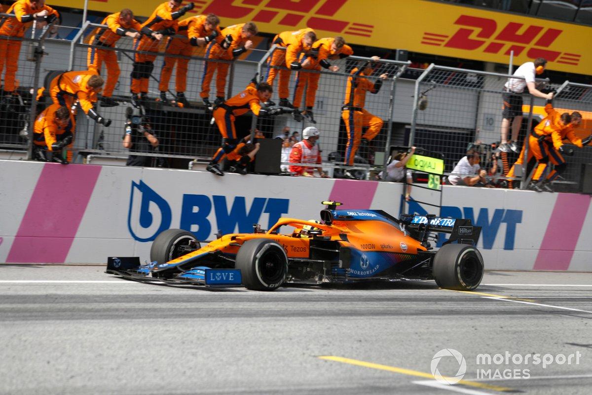 Lando Norris, McLaren MCL35M, 3° classificato