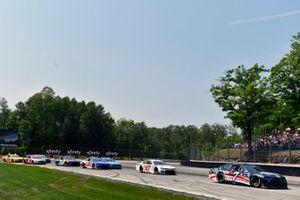 Corey LaJoie, Spire Motorsports, Chevrolet Camaro Diamond Creek Water and Justin Haley, Spire Motorsports, Chevrolet Camaro Fraternal Order of Eagles