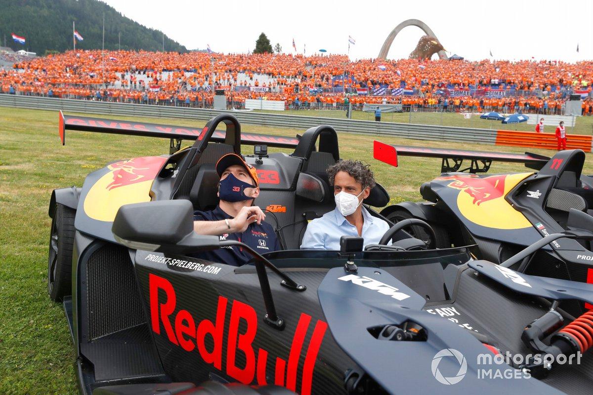 Max Verstappen, Red Bull Racing, en un KTM X-Bows