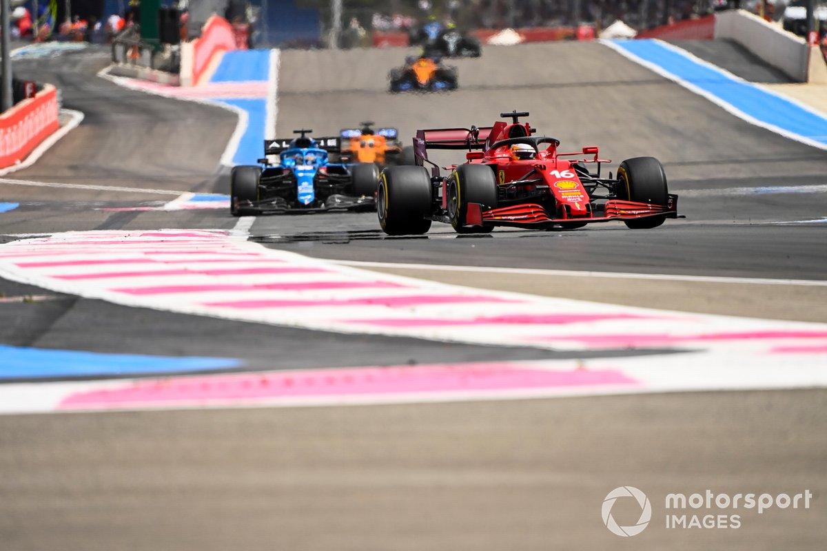 Charles Leclerc, Ferrari SF21, Fernando Alonso, Alpine A521
