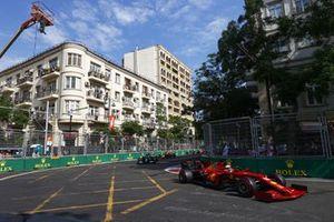 Charles Leclerc, Ferrari SF21, Lewis Hamilton, Mercedes W12 et Max Verstappen, Red Bull Racing RB16B