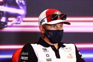 Kimi Raikkonen, Alfa Romeo Racing at press conference