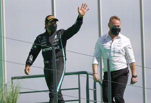 Lewis Hamilton, Mercedes, gaat naar het podium
