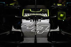 Numero di gara sull'auto di Lewis Hamilton, Mercedes W12