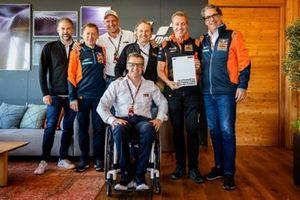 Jens Hainbach, Mike Leitner, Heinz Kinigadner, Pit Beirer, Hubert Trunkenpolz, Hervé Poncharal and Stefan Pierer