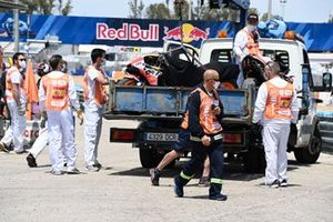 Pol Espargaro, Repsol Honda Team, crashed bike