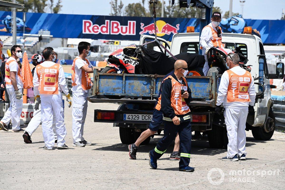 Moto chocada de Pol Espargaró, Repsol Honda Team