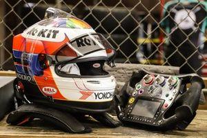 Helmet of Tatiana Calderón, A.J. Foyt Enterprises
