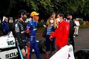 Esteban Gutierrez, Daniel Ricciardo and Marc Gene