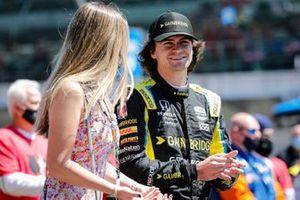 Colton Herta, Andretti Autosport Honda, sur la grille de départ