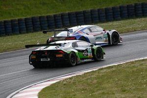 #63 GRT Grasser Racing Team Lamborghini Huracán GT3 Evo: Mirko Bortolotti, Albert Costa Balboa, #29 Montaplast by Land-Motorsport Audi R8 LMS: Ricardo Feller, Christopher Mies
