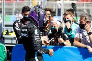 Lewis Hamilton, Mercedes, 1st position, celebates with his team in Parc Ferme