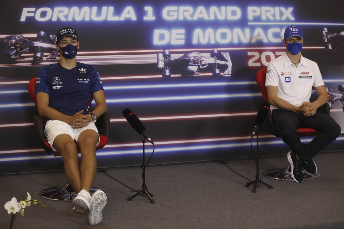 George Russell, Williams, y Mick Schumacher, Haas F1