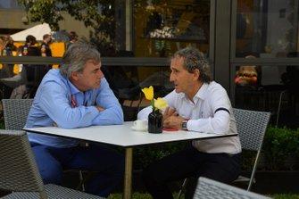 Carlos Sainz with Alain Prost