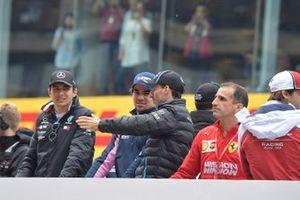 Esteban Ocon, Mercedes AMG F1, Lance Stroll, Racing Point, Robert Kubica, Williams Racing, and Marc Gene, Ferrari