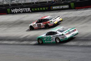 Harrison Burton, Joe Gibbs Racing, Toyota Supra Dex Imaging, Austin Cindric, Team Penske, Ford Mustang MoneyLion