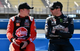 Kyle Busch, Joe Gibbs Racing, Toyota Supra iK9 and Christopher Bell, Joe Gibbs Racing, Toyota Supra Rheem