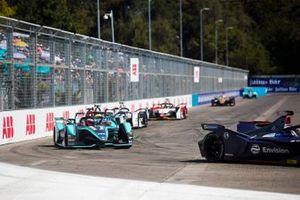 Robin Frijns, Envision Virgin Racing, Audi e-tron FE05 Mitch Evans, Jaguar Racing, Jaguar I-Type 3, Oliver Rowland, Nissan e.Dams, Nissan IMO1