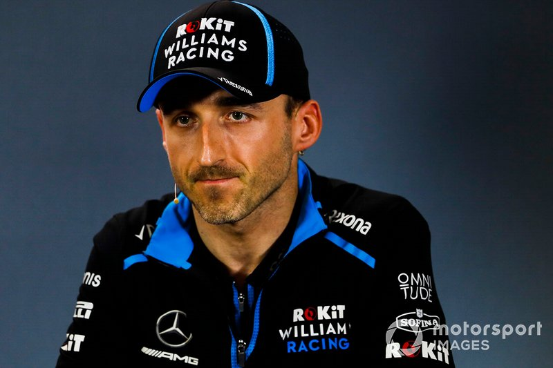 Robert Kubica, Williams Racing, durante la conferenza stampa