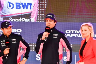 Sergio Perez, Racing Point and Lance Stroll, Racing Point at the Federation Square event