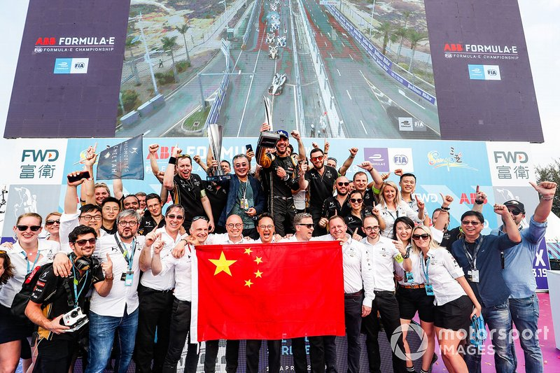 The DS TECHEETAH team celebrates victory
