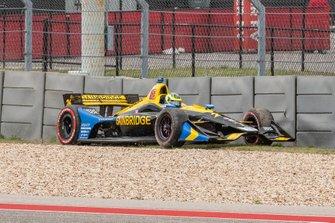 Zach Veach, Andretti Autosport Honda dans les graviers
